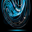 Colorful Smooth Twist Light Lines Vector Background. Eps 10