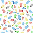 Colorful Speech Bubbles Seamless Pattern On White Background