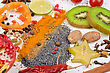 Colorful Spices - Beautiful Kitchen Image. stock image