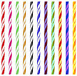 Colorful Striped Drinking Straws Isolated On White Background