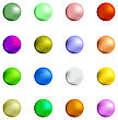 Colorful Sweet Gumball Isolated On White Background