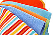 Colorful Towels On White Background. stock image