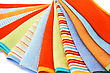 Backdrop Colorful Towels On White Background. stock image