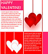 Colorful Valentines Design Of Hearts, Lines And Text stock vector