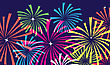 Colorful Vector Fireworks stock illustration
