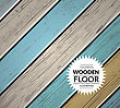 Colorful Vintage Wooden Floor. Vector Background Illustration