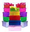 Label Colour Gift Boxes stock photography