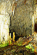 Colourful Detail From Inside Diros Cave With Lot Of Stalactites And Stalagmites stock photo