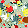 Colourfull Seamless Floral Ornate Pattern