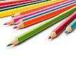 Colouring Crayon Pencils Isolated On White Background stock image