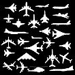 Combat Aircraft. Team. Vector Illustration For Designers