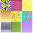 Comics Book Background. Colorful Halftone Patterns. Set Of Cartoon Speech Bubbles. Collection Dotted Background stock vector
