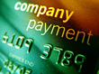 Company Credit Card stock image