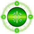 Compass In Modern Triangle Style. Vector Illustration On White