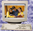 Computer Monitor & Keyboard stock image