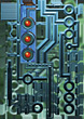 Computer Technology - Circuit Board stock image