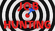 Concept Of Job Search With A Hit Right On Target stock illustration