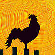 Conceptual Graphic Rooster, Abstract Art