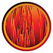 Conceptual Web Button With Flames Background