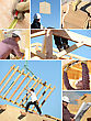 Construction Of A Wooden House stock image
