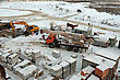Construction Site Of A Top View Of Winter stock image