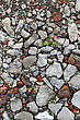 Construction Trash On The Road, Closeup Texture stock photography
