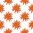 Cooked Red Shrimps Seamless Pattern On White Background. Tasty Sea Food