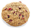 Cookie With Cranberry On White Background stock photo