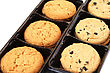 Cookies In Box On White Background.