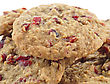 Cookies With Cranberry , Close Up stock image