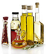 Cooking Oil Collection On White Background stock photo