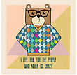 Cool Bear Hipster, Hand Draw Illustration In Vector Format
