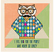 Cool Owl Hipster, Hand Draw Illustration In Vector Format
