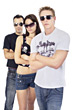 Cool Teenagers with Sunglasses stock photo