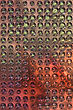 Copper Metal Background Cowered With Dots stock photography