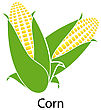 Corn Icon On White Background. Vector Illustration
