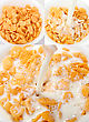 Cornflakes Sets With Milk - Healthy Food stock image