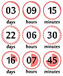 Countdown Web Site Flat Template Digital Clock Timer Background For Under Construction Design Or Coming Soon