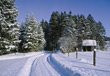 Country Road Covered with Snow stock photo