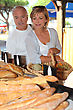 Couple At Local Market stock photo