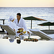 Couple at Luxury Spa stock photography