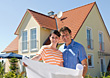 Couple Buying a New Home stock photography