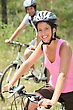 Couple Cycling stock image