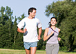 Couple Exercising stock photography