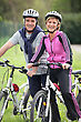 Couple Having A Bike Ride stock photography