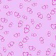 Couple Of Hearts Random Seamless Pattern On Pink Background