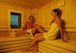 Couple in Sauna stock photo