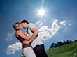 Couple Kissing stock photography