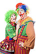 Couple Of Funny Clowns. stock photography