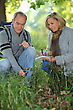Couple On A Nature Trek stock photography